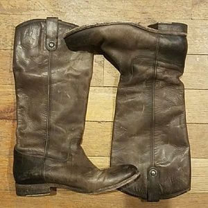 Frye 'Melissa Button' Distressed Slate Boots